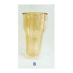 620ml - 20.9 oz polycarbonate double wall tumblers