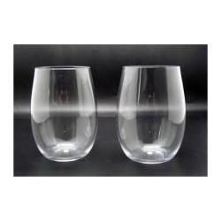 440ml - 14.8 oz polycarbonate stemless Wine glass