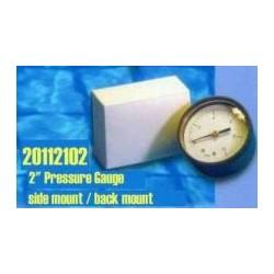 Side mount pressure gauge for pools